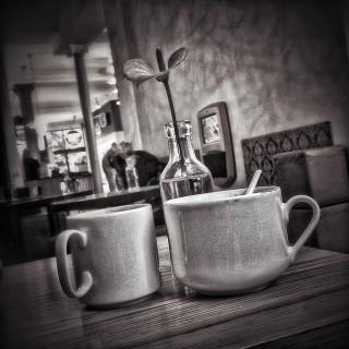 Tasse Kaffee im Café